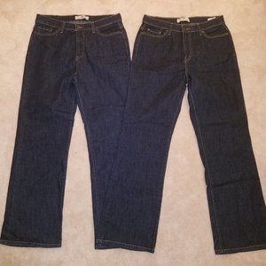 2 Levi's Perfectly Slimming Blue Jeans 512 Bootcut